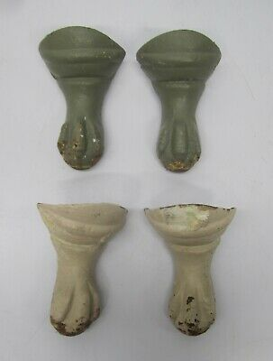 4 Matching Salvaged Antique Cast Iron Claw Foot Ball Bathroom Tub Feet As Is