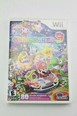 Mario Party 9 (Nintendo Wii, 2012) with Manual COMPLETE AUTHENTIC