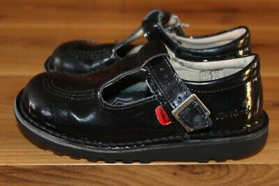 KicKers girls black patent shoes size UK 11 kids (29) *I'll combine postage*