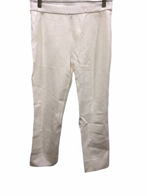 Dennis Basso Women's Ponte Knit Pull-On Ankle Pants Ivory X-Large Size QVC
