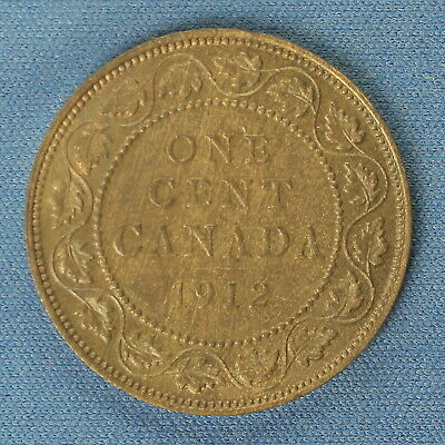 Canada 1912 Large Penny ( Estimsted Grade EF to AU) 2   (Cleaned)