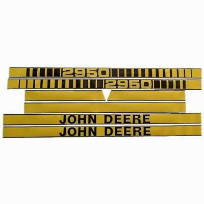 Tractor Hood Decal Set fits John Deere 2950