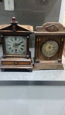 A super pair of Antique bracket  mantel clocks