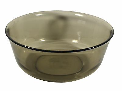 """Vintage Arcoroc France Black Tinted Glass Mixing Bowl 9"""" Wide <Hm06 (#B9)"""