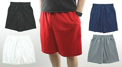 Men's Gym Basketball Shorts Athletic Workout Active Mesh Short with 2 Pockets