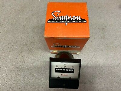 New In Box Simpson Frequency Meter 03496