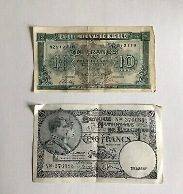 Belgium WW2 Bank Notes