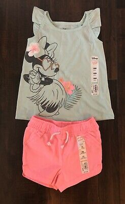 NWT Jumping Beans Disney Minnie Mouse Girls Outfit Size 18 Months Summer Lot