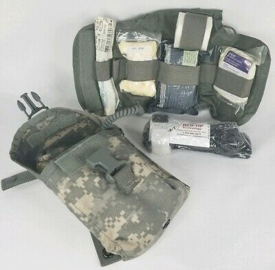 US Military IFAK First Aid Kit Trauma Kit ACU Pouch w/Insert/Supplies/Tourniquet