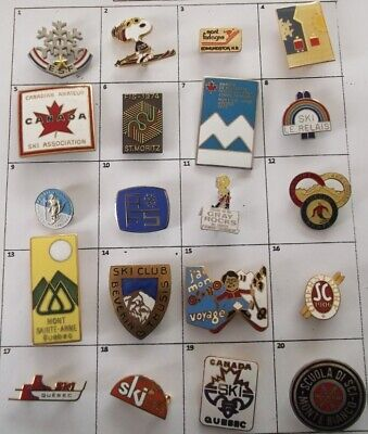 Different Ski Club Association Championship + Else Brooch Pin Your Choice G722