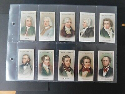 Cigarette Card Set (50) Musical Celebrities 1st set - Wills - 1911 - Very nice !