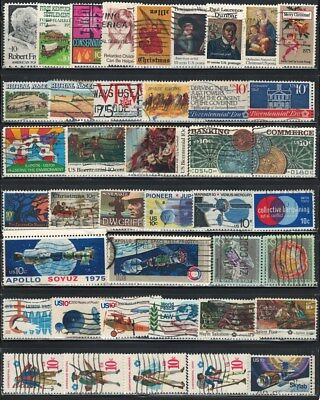 Very Nice Year of 1974-1975 US (10 Cent)  Stamps Collections lot (used)
