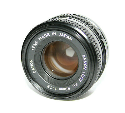 Canon NFD 50mm f/1.8 Prime Lens FD Mount - Great Vintage Condition w/ Box & Caps