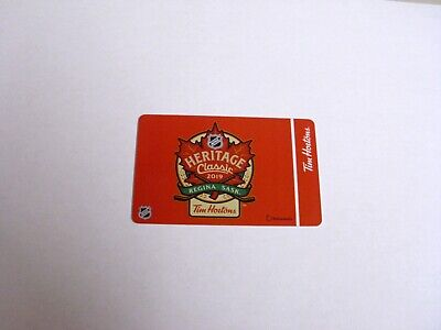 Tim Hortons Gift Card No $ Value Heritage Classic 2019