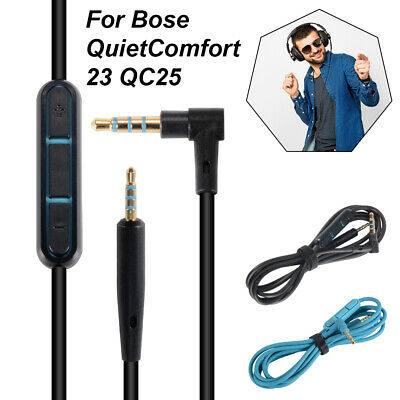 Audio Cable Remote with Mic for QuietComfort 25 QC25/35 Y40 Headphones Headset