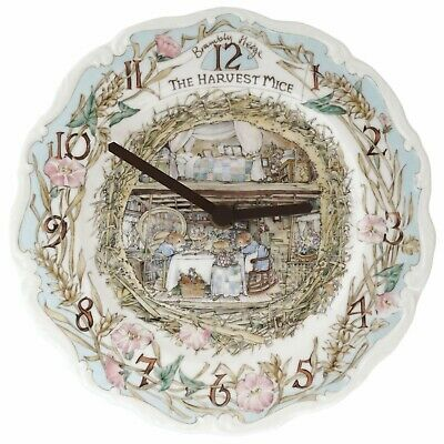 Royal Doulton Brambly Hedge The Harvest Mice Clock Boxed
