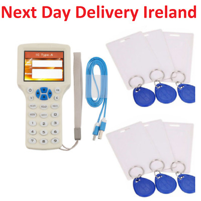 10 Frequency Copy Encrypted NFC Smart Card RFID Copier ID/IC Reader Writer