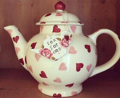 Emma Bridgewater Themed Handmade Clay Teapot Tag - Scattered Rose - TEA FOR...