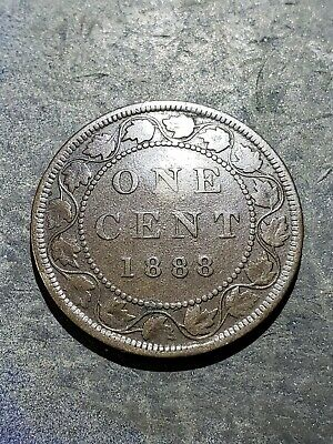 1888 Canada Large Cent Large 1 Cent Penny Coin #333