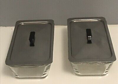 Hostess Trolley Dishes & Lids  Ekco  Glasbake Phillips X 2 pair of J522