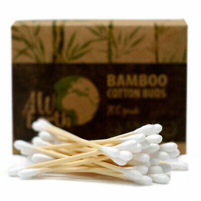 Box of 200 Bamboo Cotton Buds - Natural Wooden Ear Swab Makeup Eco Friendly Pack
