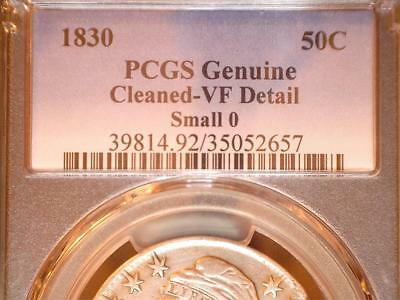 1830 50C Capped Bust half dollar O-105, R.4   PCGS VF detail, circulated