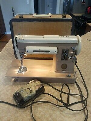 Singer Sewing Machine 301A Vintage Mocha Brown w/ case & pedal