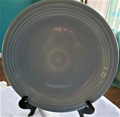 """Fiesta ware Homer Laughlin Periwinkle blue Charger / Chop Plate 11 1/2"""" Diam."""