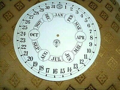 "Round Jerome Paper (Card) Clock Calendar Dial - 7 1/2"" -  Arabic - MATT- Parts"