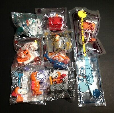 2019 Canada Mcdonalds Snoopy Toys --- Complete Set Of 10 Pcs. ----- New
