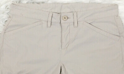 Eddie Bauer Women's Tan Khaki Guide Pro Capris Stretch UPF 50+ Pants Size 4