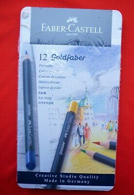 #114712 Faber-Castell Goldfaber Colour Pencils Tin Of 12 Artist Quality