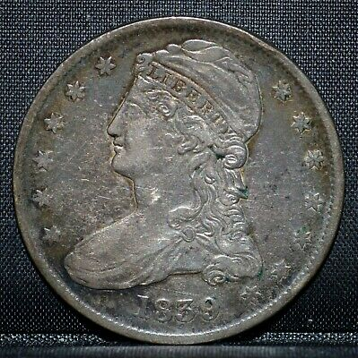 1839 Capped Bust Half Dollar ✪ Xf Extra Fine ✪ 50C Silver Large Letters◢Trusted◣