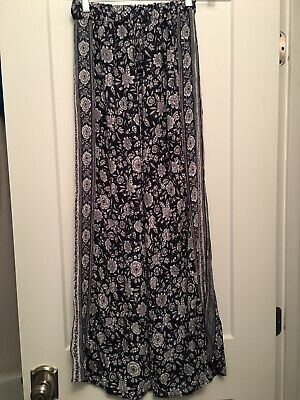 American Eagle Womens Size Small Floral Print Wide Leg Palazzo Pants Pull On
