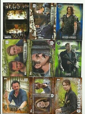 Awesome  Walking Dead Serial #D Lot !!! Mold, Mud, Blue, Rust! Inserts+More! #6