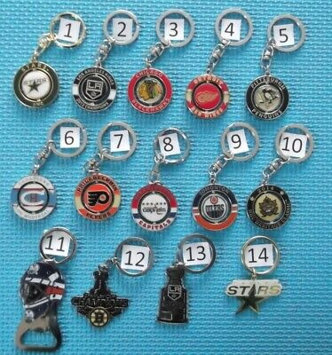 Different Team Nhl Hockey Keychain Key Ring Porte-Clefs (Your Choice) # G734