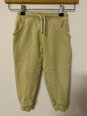 NEXT JOGGERS JOGGING BOTTOMS 2-3 years GIRLS WASHED OUT LEMON YELLOW
