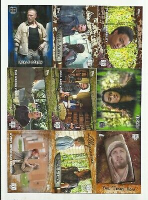 Awesome  Walking Dead Serial #D Lot !!! Mold, Mud, Blue, Rust! Inserts+More! #7