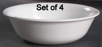 Set of 4 Corning Ware Corelle Winter Frost White 6.25'' Cereal Bowls
