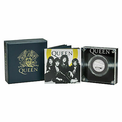 Royal Mint Queen band 2020 UK Half Ounce Silver Proof Coin FREDDIE MERCURY Coa