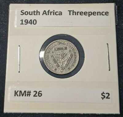 South Africa 1940 3d Threepence KM# 26