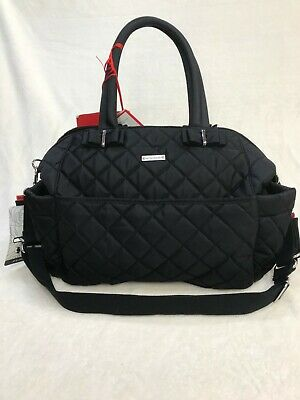 Storksak Bobby Quilted Cappuccino Nappy Diaper Bag /& Baby Changing Mat New
