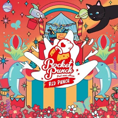 ROCKET PUNCH RED PUNCH 2nd mini album CD+Photobook+Photocard+Sticker+Poster