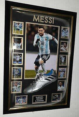 Lionel Messi of Argentina Signed Football Boot Autographed Domed Frame Display