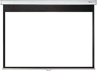 Brand New Optoma Ds-1123Pmg+ 123-Inch Pull Down Projection Screen - White