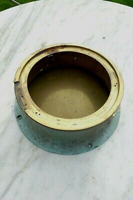 Vintage Casing For Ships Clock Brass - sold as parts