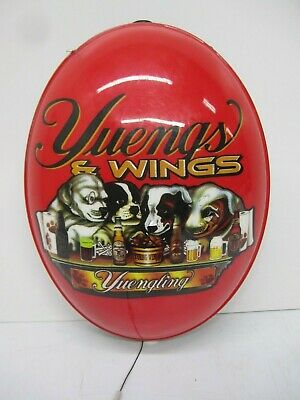 Yuengling Yuengs & Wings Dogs Beer Advertising Rotating Lighted Sign Parts As Is
