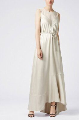 Hugo Boss Womens Dalatena Sleeveless Evening Dress Gown Scoop Neck Size 4 $745