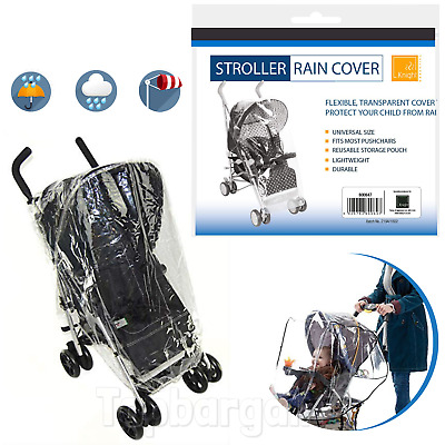 Baby Stroller Rain Cover Universal Child Pushchair Pram Buggy Clear Raincover