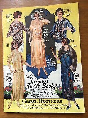 Rare 1924 Gimbel Brothers Department Store Spring Summer Catalog Ladies Clothing